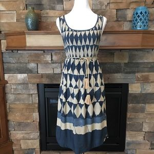 Anthro Maeve Castalia tie waist midi dress 6 $138
